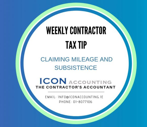 Claiming Tax Relief on your Mileage and Subsistence Costs while Contracting