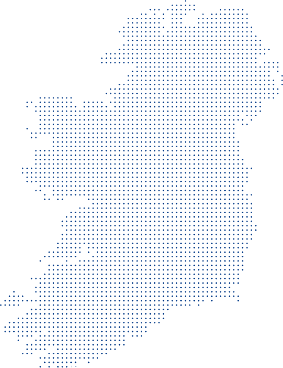 Ireland made up of dots